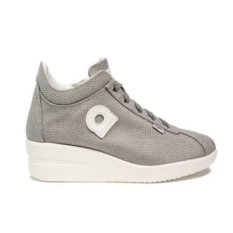 Agile by Rucoline sneaker con zeppa color grigio articolo 0226-83013 226 A VORTICE