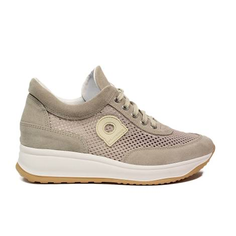 Agile by Rucoline sneaker perforated with wedge beige color article 1304-82627 1304 A CHAMBERS LEON