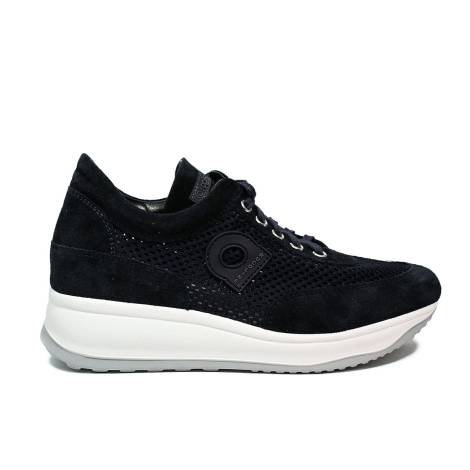 Agile by Rucoline sneaker perforated with wedge blu color article 1304-82627 1304 A CHAMBERS LEON