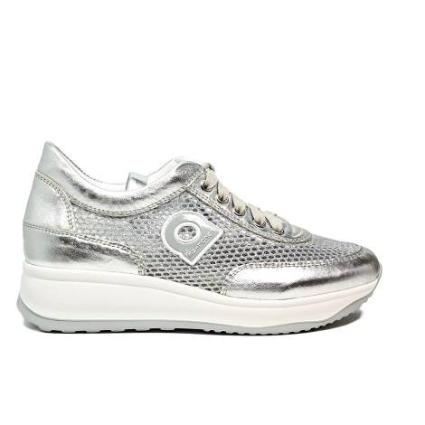 Agile by Rucoline sneaker traforata con zeppa color argento articolo 1304-82983 1304 A NETLAM
