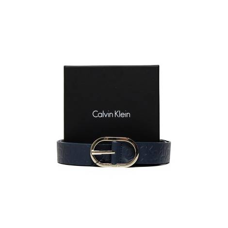 Calvin Klein K60K602239 448 cintura donna in pelle color blu