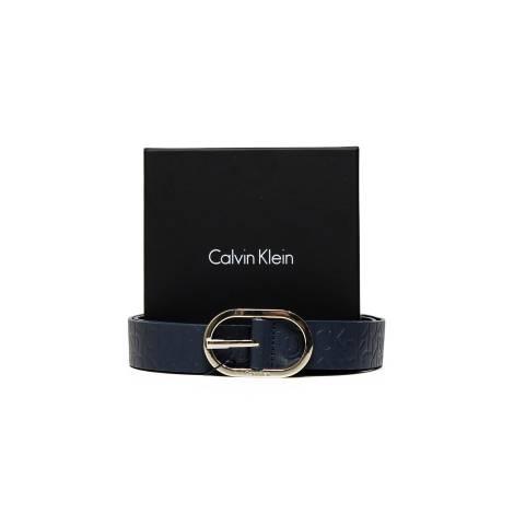 Calvin Klein K60K602239 448 women's blue leather belt