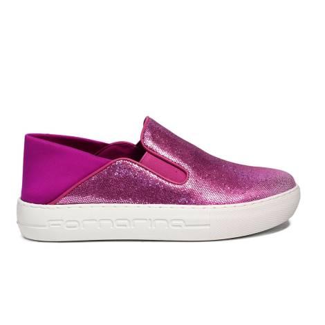 Fornarina loafer with wedge fuxia color PE17YM1002V062 YUMA-FUXIA OTELLO/LYCRA