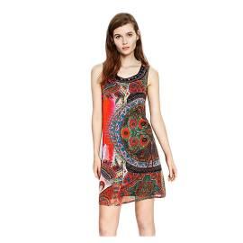 Desigual 73V2WK2 3036 vestito corto donna smanicato con stampa etnica 2ebffc906b3