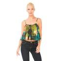 Desigual 74M2WC1 2000 top woman with tropical print, multicolored