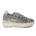 Fornarina sneaker for women with wedge silver color article PE17VH9545G090 VENERE SILVER CAPRI