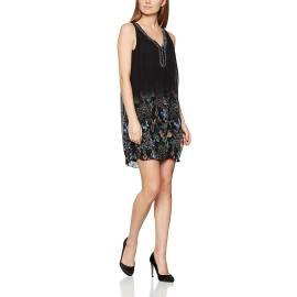 Desigual 71V2GR6 2000 vestito corto donna stile volant color nero