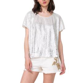 Desigual 71T2GH7 2015 t shirt donna color argento