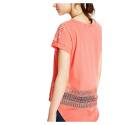 Desigual 71T2YK7 7062 t shirt red woman with perforated details