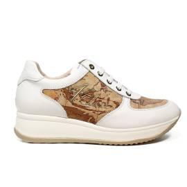 Alviero Martini 1 Classe sneaker for women in leather white color article VTR2 B005