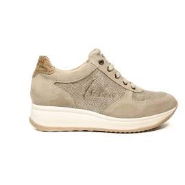 Alviero Martini 1 Classe sneaker for women in leather beige color article CRM2 D102
