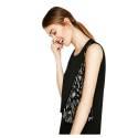 Desigual 72V2EX5 2000 vestito corto donna con texture leopardo, color nero