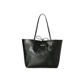 Desigual 72X9ER0 2000 women's double face black and white handbag