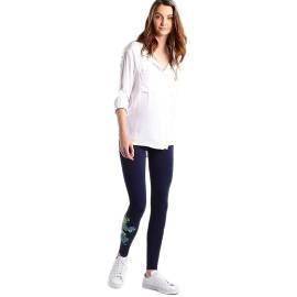 Desigual 72K2EA0 5000 leggings donna in cotone, color blu