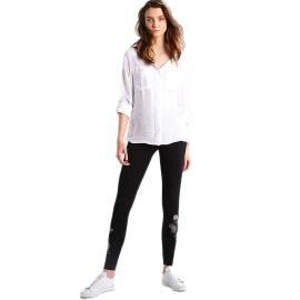 Desigual 72K2EA0 2000 leggings donna stampa bolle, color nero