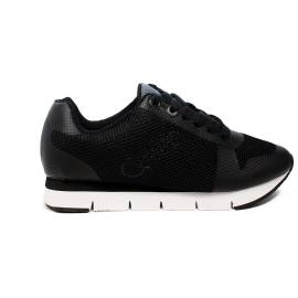 Calvin Klein Jeans women sneaker with traforata fabric black color article R4113 BLK