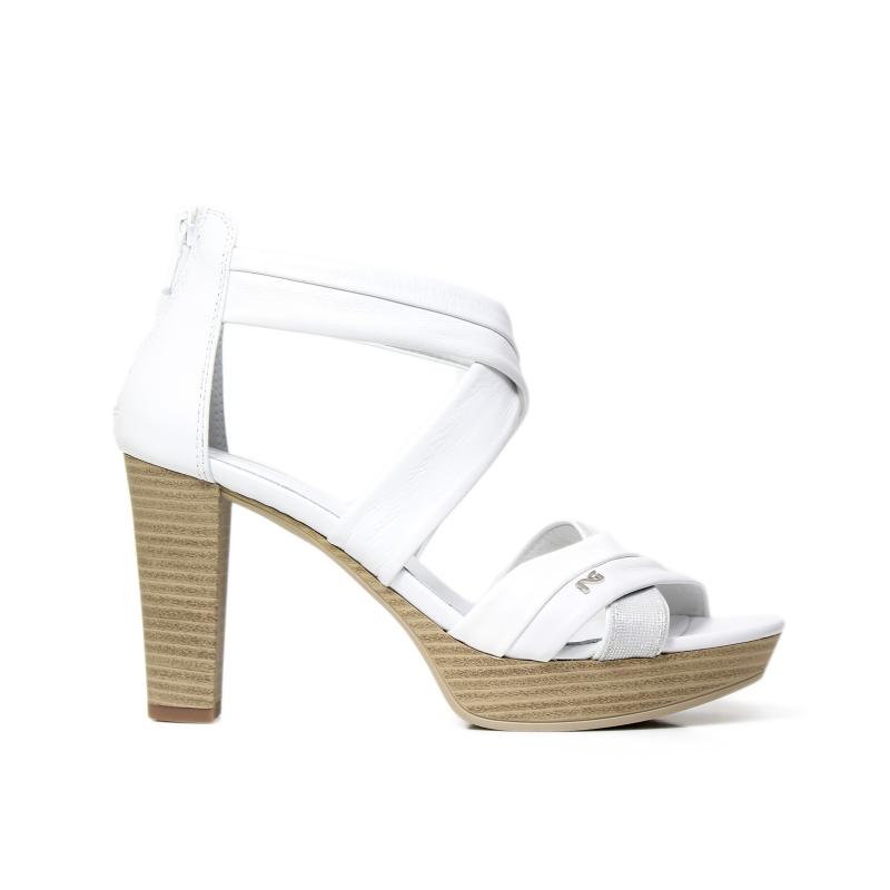 NERO GIARDINI P717551D 707 BIANCO sandalo donna color bianco