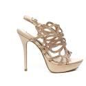 Ikaros sandalo gioiello elegante con tacco alto color cipria articolo B 2713 NUDE