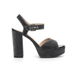 NERO GIARDINI P717861DE 100 NERO sandalo elegante donna color nero