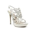 Ikaros sandalo gioiello elegante con tacco alto colore argento articolo B 2713 ARGENTO