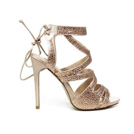 Ikaros sandalo gioiello elegante con tacco alto color cipria articolo B 2727 NUDE