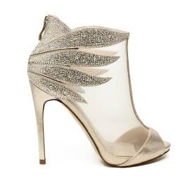 Ikaros sandalo tronchetto gioiello elegante spuntato con tacco alto colore oro articolo B 2608 ORO