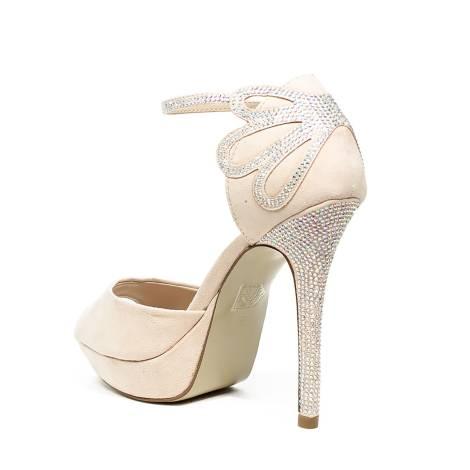 634ae7281c Ikaros sandalo gioiello elegante con tacco alto color cipria articolo B  2708 NUDE
