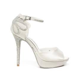 Ikaros sandalo gioiello elegante con tacco alto colore bianco articolo B 2708 BIANCO