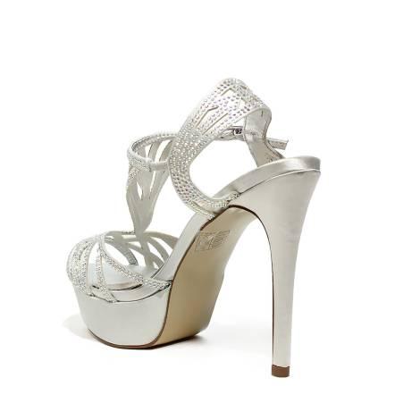 Ikaros sandalo gioiello elegante con tacco alto colore argento articolo B  2716 ARGENTO d644322f131
