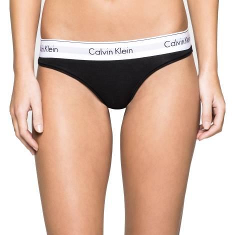 Calvin Klein F3786E-001 NERO tanga donna color nero