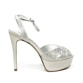 Ikaros sandalo gioiello elegante con tacco alto colore argento articolo B 2724 ARGENTO