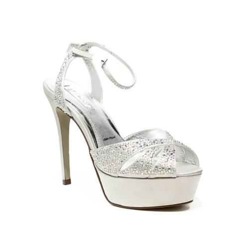 8663dbd9bd03f Ikaros sandalo gioiello elegante con tacco alto colore argento articolo B  2714 ARGENTO