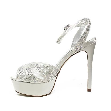 Ikaros sandalo gioiello elegante con tacco alto colore argento articolo B  2714 ARGENTO 6db0661cd9f