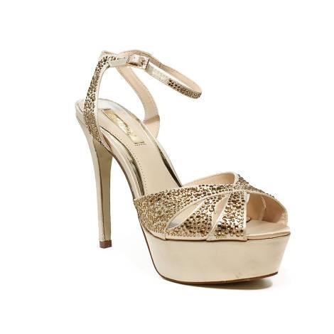 Ikaros sandalo gioiello elegante con tacco alto color oro articolo B 2714  ORO 74c43a9402d