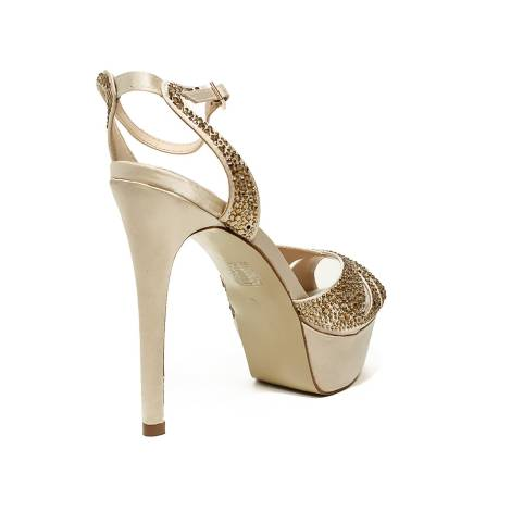 32ce84a3be717 Ikaros sandalo gioiello elegante con tacco alto color oro articolo B 2714  ORO