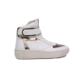 Janet Sport Sneaker Donna Zeppa Bassa Art. 35700 Bianco Oro