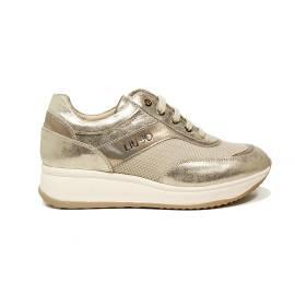 Liu Jo donna sneaker con zeppa media color platino articolo UB23041