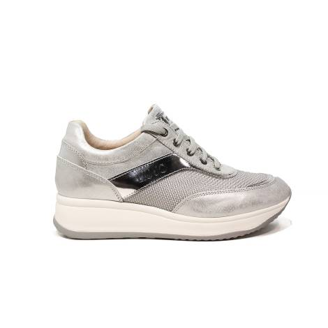 Liu Jo women sneaker with mid wedge silver color article UB23041A