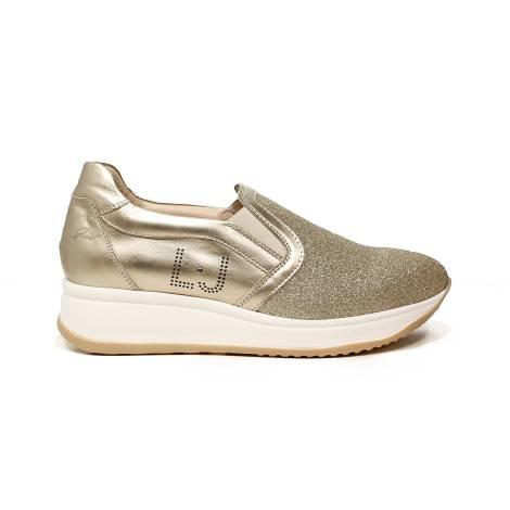 Liu Jo donna sneaker slip on con zeppa media color platino articolo UB23049A