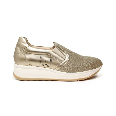 Liu Jo women sneaker slip on with mid wedge platinum color article UB23049A