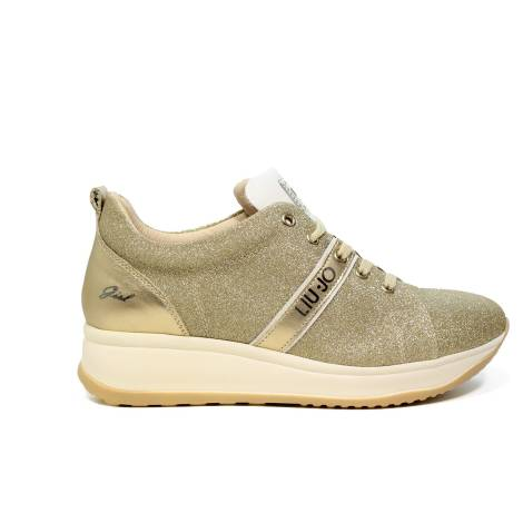 Liu Jo women sneaker with mid wedge platinum color article UB23041