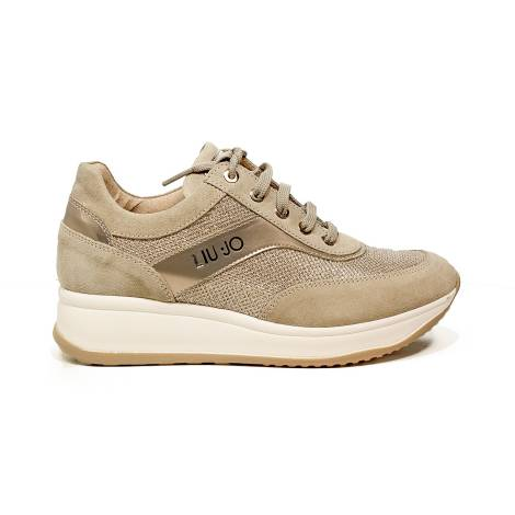 Liu Jo women sneaker with mid wedge sand color article UB23042A