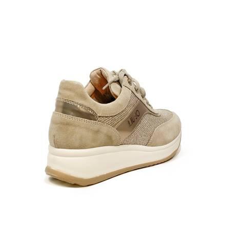 Liu Jo donna sneaker con zeppa media color sabbia articolo UB23042A 9b089467f16