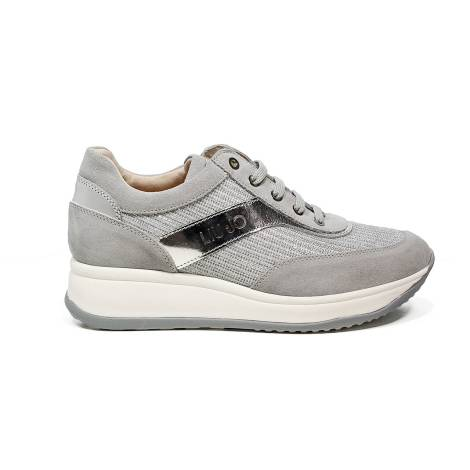 Liu Jo women sneaker with mid wedge silver color article UB23042