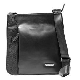 Mario Valentino VBS1PK01M MOSS NERO borsa a tracolla uomo, in ecopelle e tessuto, color nero