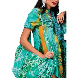 Antica Sartoria Positano S981 MULTI blusa donna multicolore, stampa fondale marino