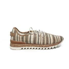 Apepazza sneaker in tessuto color bianco sporco e beige articolo DLY22