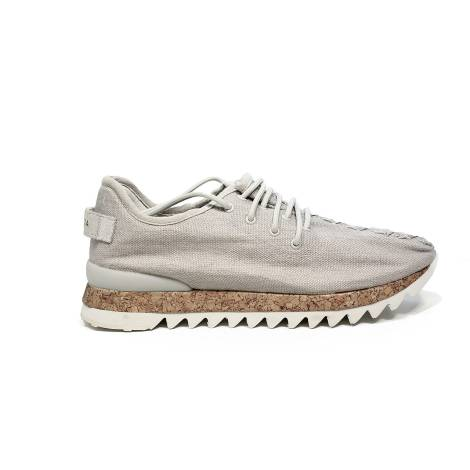 Apepazza sneaker in fabric off white color article DLY22