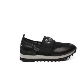 Apepazza loafer with band refined with stones black color article DLY32