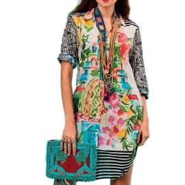 Antica Sartoria Positano S351 MULTI abito da mare donna multicolore